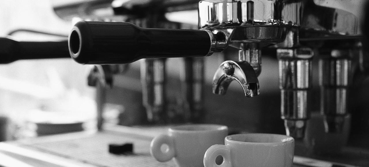 Cups Under Espresso Machine Portafilter July 2001